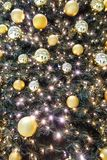Christmas decoration in a tree with balls Stock Photography