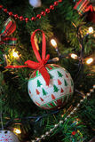 Christmas decoration tree, baubles Royalty Free Stock Photo