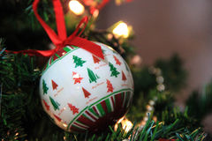 Christmas decoration tree, baubles Royalty Free Stock Photography