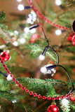 Christmas decoration on tree with light Stock Photo
