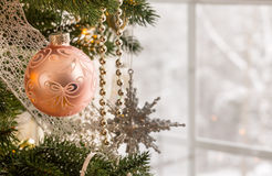 Christmas decoration on tree Royalty Free Stock Images