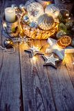 Christmas decoration for tree New year greeting Stock Images