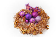Christmas decoration. Christmas tree ornaments Christmas decoration stock photo