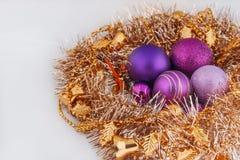 Christmas decoration. Christmas tree ornaments Christmas decoration royalty free stock images