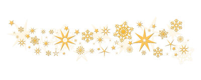 Christmas decoration tree stars snowflakes Royalty Free Stock Photography