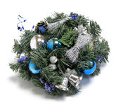 Christmas decoration with the twigs of the spruce Royalty Free Stock Images