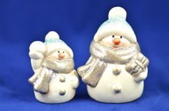 Christmas decoration, two figures of snowman Royalty Free Stock Image