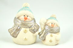Christmas decoration, two figures of snowman Stock Photography