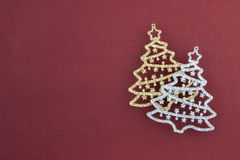 Christmas decoration two firs Stock Image