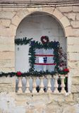 Christmas decoration. Typical Christmas decor of maltese house Royalty Free Stock Images