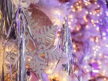Christmas decoration with the used of star shape bokeh. Such a g Royalty Free Stock Photo
