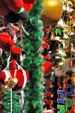 Christmas decoration in various. Colorful decoration for Chirstmas, shown as happy, lucky and good wishes in Christmas Royalty Free Stock Image
