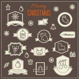 Christmas decoration vector design elements Stock Image