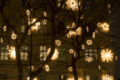 Christmas decoration in vienna Royalty Free Stock Photos