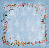 Christmas decoration on Vintage background vector illustration