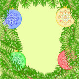 Christmas decoration vintage baubles background vector Stock Image