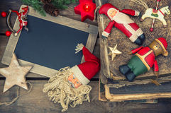 Christmas decoration vintage toys and books Stock Image