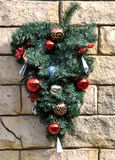 Christmas decoration on wall Royalty Free Stock Photo