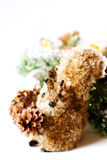 Christmas decoration with walnuts and squirrel Stock Image