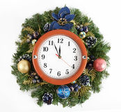 Christmas decoration and watch Stock Photo