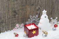 Christmas decoration on weathered Stock Photos
