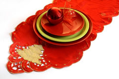 Christmas decoration on the whitе table royalty free stock photo