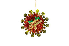 Christmas Decoration on the white background Royalty Free Stock Photos