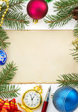 Christmas decoration on white Stock Photography