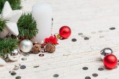 Christmas decoration on white background Royalty Free Stock Images
