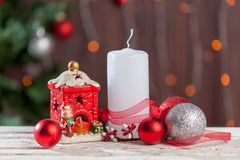 Christmas decoration on white background Royalty Free Stock Photo
