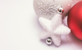 Christmas decoration on white background Royalty Free Stock Images