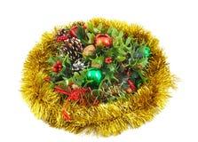 Christmas decoration on white background. Stock Photo