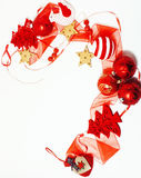 Christmas decoration  , white background for post card gift vintage, copyspace for text, fashion stylish red Stock Photo