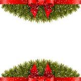 Christmas decoration on white background Stock Images