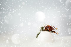 Christmas Decoration with White Bauble Stock Photo