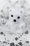 Christmas decoration white bear cub Royalty Free Stock Photos