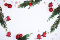 Christmas decoration on white, can be used as background royalty free stock photography