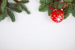 Christmas decoration on white, can be used as background stock photo