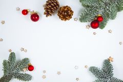 Christmas decoration on white, can be used as background royalty free stock photo