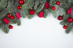 Christmas decoration on white, can be used as background stock image