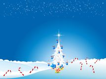 Christmas decoration with white Christmas tree Stock Photo