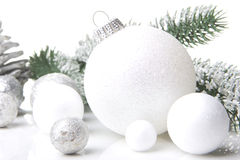 Christmas decoration white Royalty Free Stock Photography