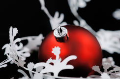 Christmas decoration with white garland Stock Images