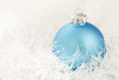 Christmas decoration on a white garland Stock Photo