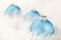 Christmas decoration on a white garland Stock Photography