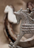 Christmas decoration with  white horse figure Royalty Free Stock Photography