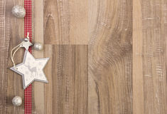 Christmas decoration white and red Stock Images