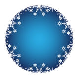 Christmas Decoration with white snow icons Stock Photo