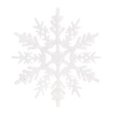 Christmas decoration. white snowflake isolated. On white Stock Images