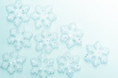 Christmas decoration with white snowflakes Stock Photo